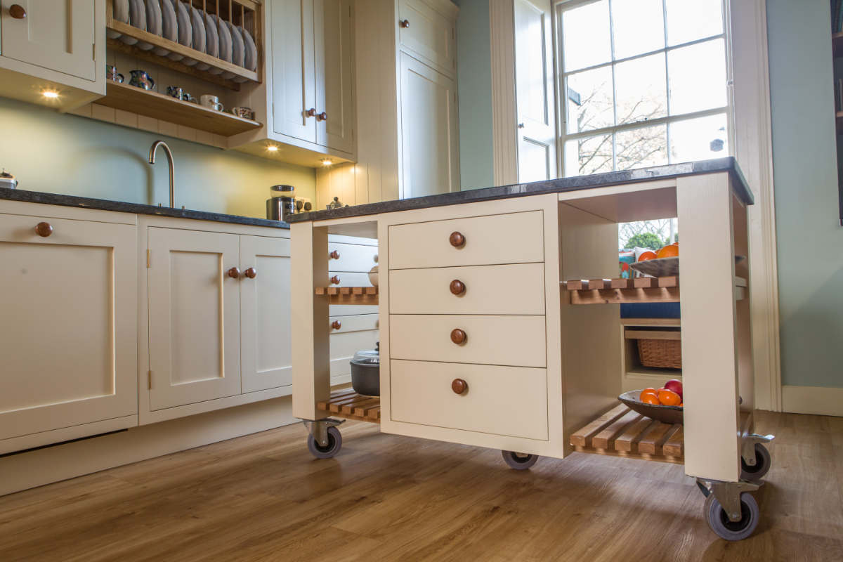 Painted In Frame Kitchen With Aga Hotwells Bristol